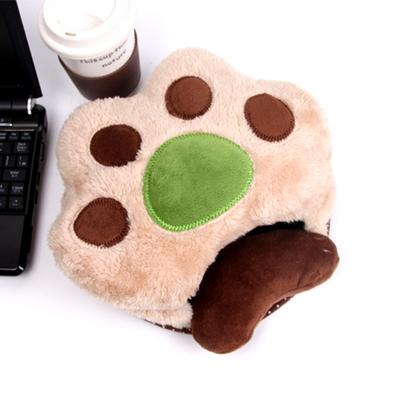 아기곰 손바닥 USB 온열 마우스 패드