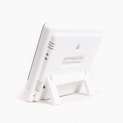 심플 화이트 디지털 온습도계 겸 알람시계 HTC-1