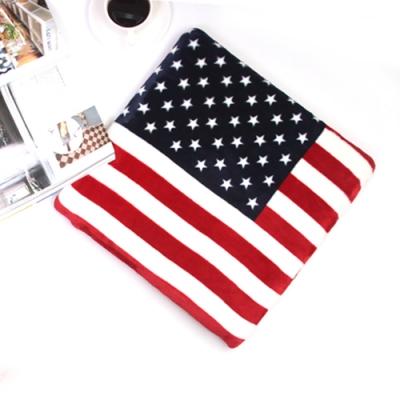 미국 성조기 플란넬 메모리폼 방석