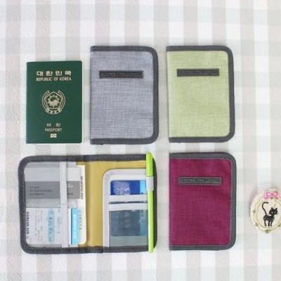 글랜스 여권 케이스 여행용 파우치