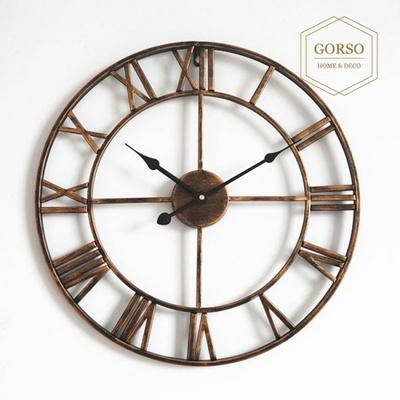 고르소 북유럽 엔틱 빈티지 고급 인테리어 벽시계 -40cm