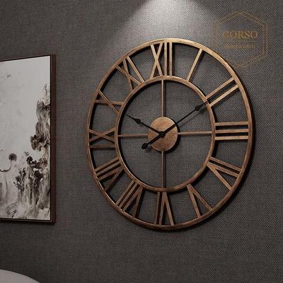 고르소 북유럽 엔틱 빈티지 고급 인테리어 벽시계 -60cm