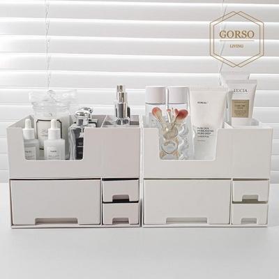 고르소 모던 화장품 더블 수납함 소품 정리함 꽂이 2단세트