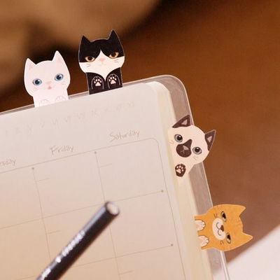 더하기 - 키티 고양이 접착식 메모지