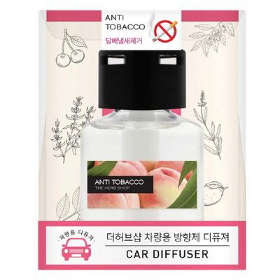 더허브샵 차량용 방향제 디퓨저 섬유심지70ml_담배냄세제거(안티타바코)