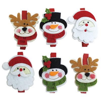 크리스마스 집게-산타 루돌프 트리 눈사람