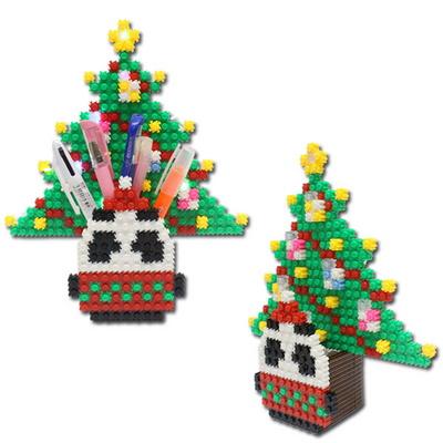 툭툭블럭 크리스마스 무드등_판디 트리 팬꽂이