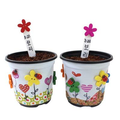 꽃단추 보리화분 만들기 (10인용)