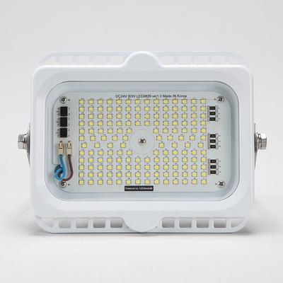 선박용 LED 투광기 DC 24V 80W (주광색) 화이트 삼립