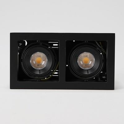 MR-16 멀티2구 COB타입 매입형 흑색 16W(전구색) 예도