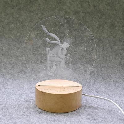 무드등 LED 아크릴 3D 어린왕자와 여우(USB타입)
