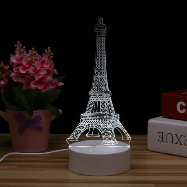 무드등 LED 아크릴 에펠탑 (USB타입) - 별별조명, 16,300원, 리빙조명, 테이블조명