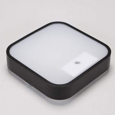 LED 사각 센서등 마빈 블랙 15W 주광색