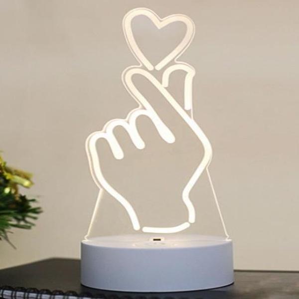 무드등 LED 아크릴 제스처 (USB타입) - 별별조명, 16,000원, 리빙조명, 테이블조명