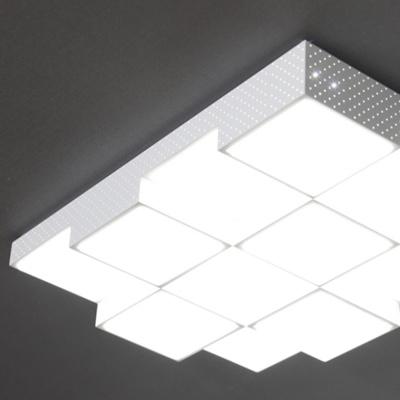 큐브 LED 거실등 12등 100W 화이트 플리커 프리 국산