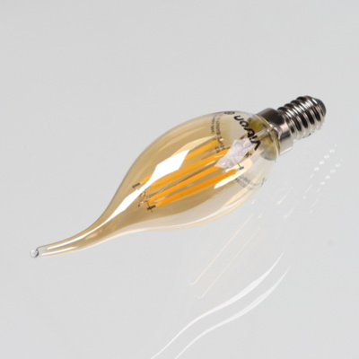 별별조명 에디슨 LED 촛대구 플레임(골드)4W 2.7K E14