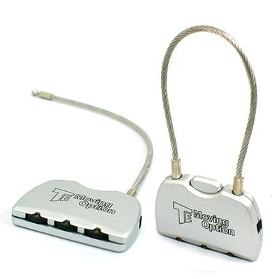 TE-7010 3다이얼 와이어 열쇠 자물쇠