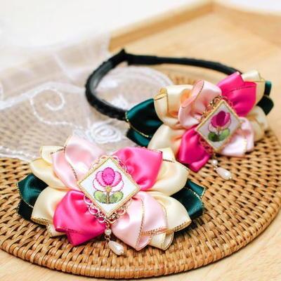(핑크)연꽃배씨머리띠 헤어핀 (DIY-DS96)