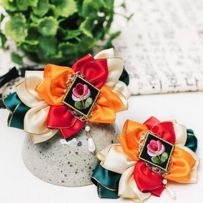 빨강연꽃배씨머리띠 헤어핀 (DIY-DS98)