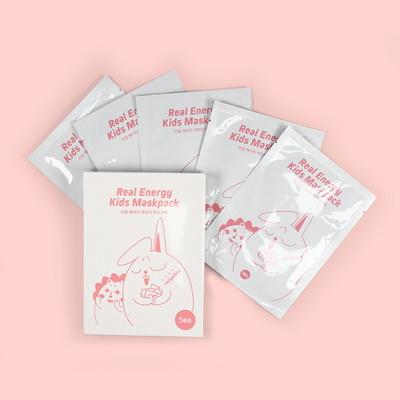 레시피박스 어린이 화장품 키즈 리얼에너지 마스크팩 1BOX