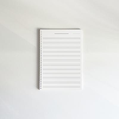 홀로그램 음악노트 60매 A4 오선노트 작곡노트 오선지