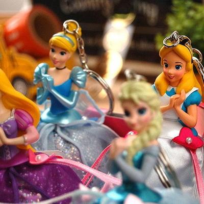 [DISNEY RESORT] 디즈니 공주 피규어 열쇠고리