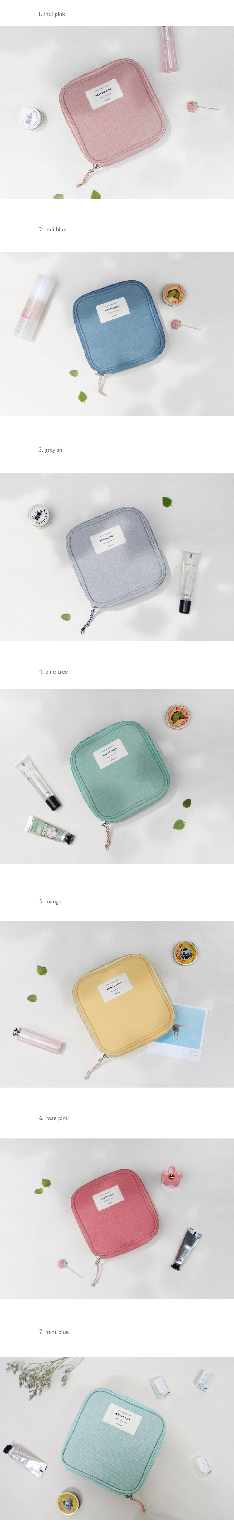 mind compact pouch - 돈북, 15,000원, 화장품파우치, 패브릭