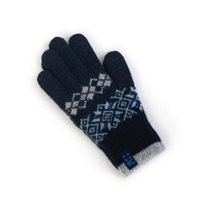 주니어 패턴 보온 장갑 팡팡 (블루)