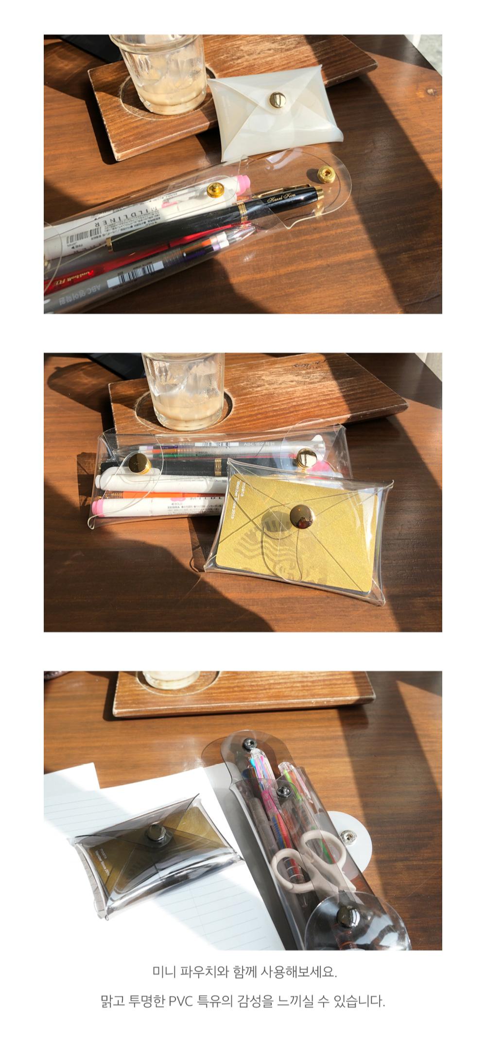 클리어 펜 파우치 PVC - 플랜커스, 6,700원, 투명/플라스틱필통, 심플