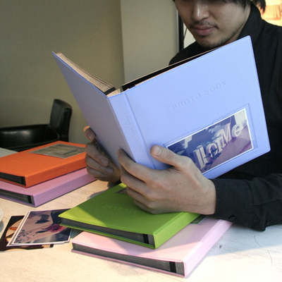 Color photo book-black(L)_접착식 (25매,블랙내지)