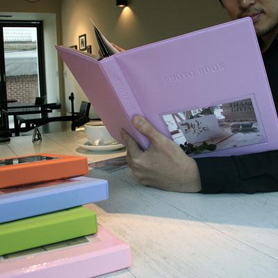 Color photo book(L)_접착식 (화이트내지.25매)