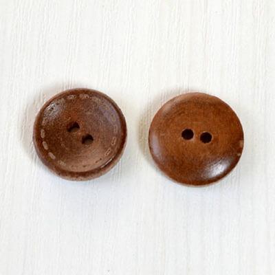 15mm 스티치나무단추 8ea