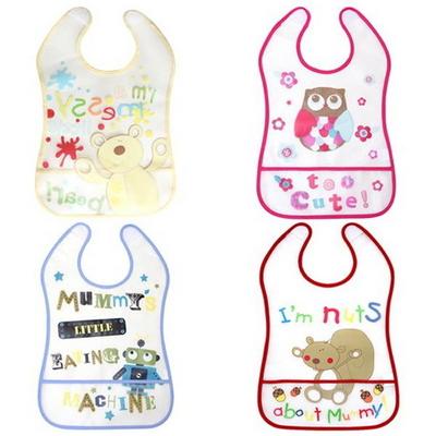 for BABY 아기를 위한 실용적인 방수 턱받이 4종 500006