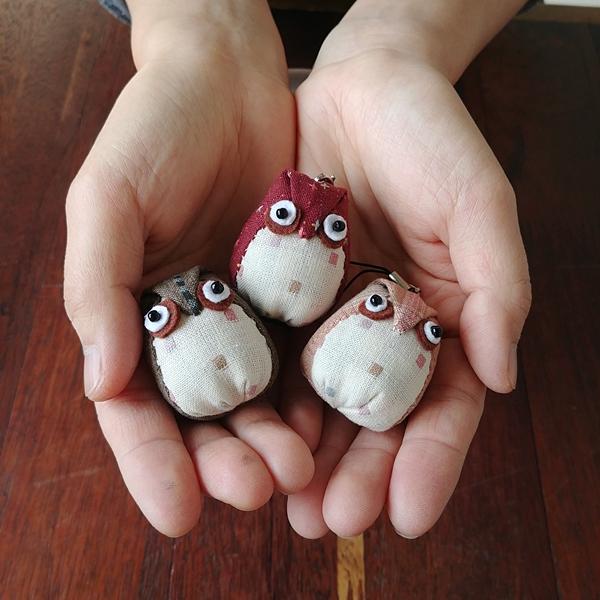 부엉이인형만들기(원단랜덤) - 나미꼬의퀼트카페, 4,000원, 퀼트/원단공예, 수납/주머니 패키지