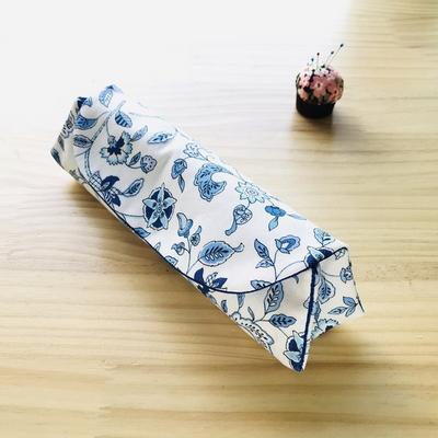 퀼트패키지 필통만들기 블루꽃 원단변경참조