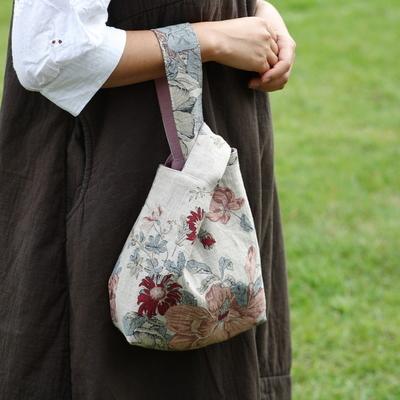 퀼트 패키지 손목가방만들기 린넨양면플라워손목가방 카오스