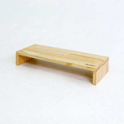 우드브릿지 원목 1단 모니터받침대