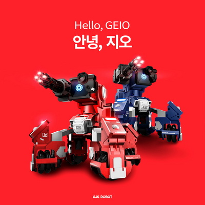 GJS ROBOT GEIO 지오 코딩 배틀로봇 - 블루 레드