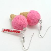미니아이스크림 귀걸이-딸기