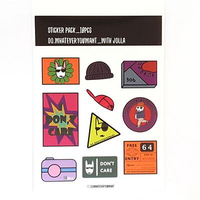Removalble 10pcs Sticker Set -No.1