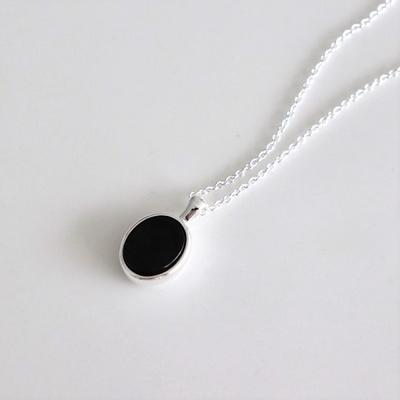 [Silver925] Neat onyx necklace