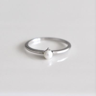 [Silver925] Basic pearl ring