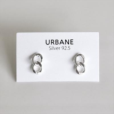 [Silver925] Two chain earring