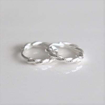 [Silver925] Basic twist earring