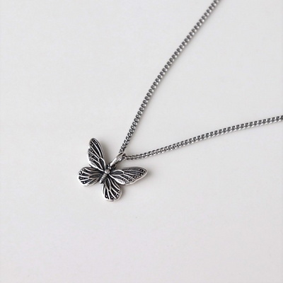 [Silver925] Antique butterfly necklace