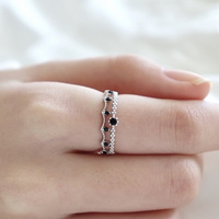 [Silver925] Gemstone lace ring