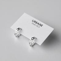 [Silver925] Lovely heart one touch earring