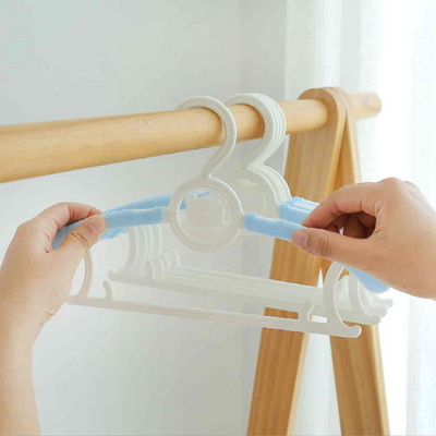 길이가 조절되는 곰돌이 유아옷걸이(5개입)