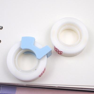 매직 접작 테이프 반투명 간편 커팅기 포함 2롤