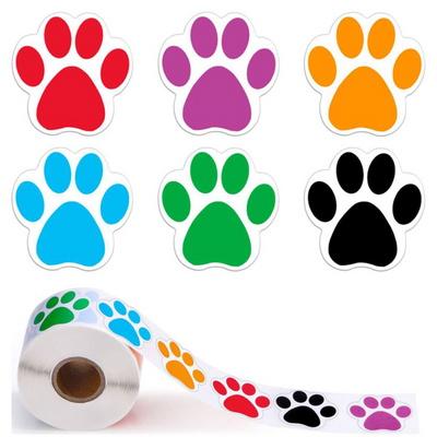롤 스티커  고양이 강아지발 이모티콘 500매